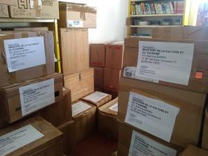 Cartons pour envoi au Burkina Faso