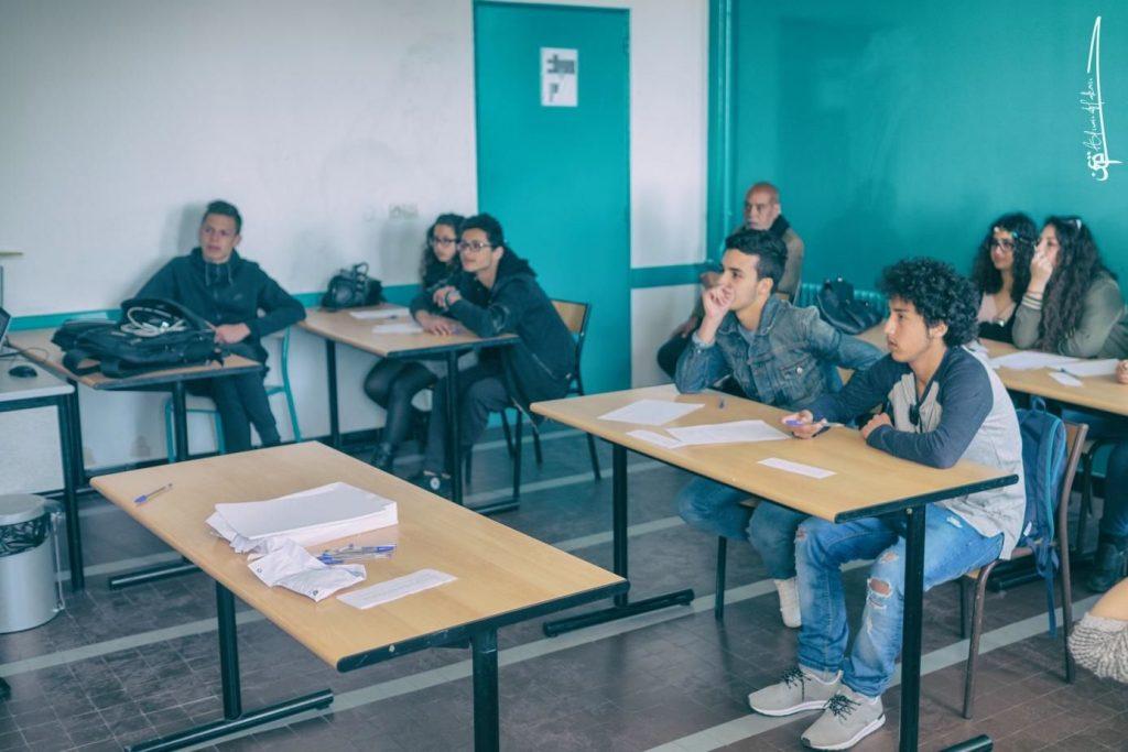 Atelier de lycéens du lycée Prince Mouled Rachid de Chefchaouane (Maroc)
