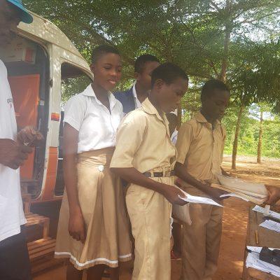 Prêts au Bibliobus de Sichem, Togo