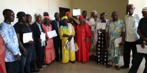 Remise officielle des attestations de formation-Conakry, Guinée