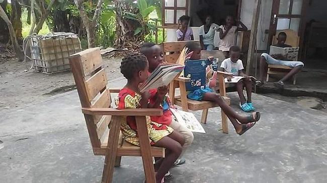 Congo. Rendez-vous lecture du samedi à Côte Matève