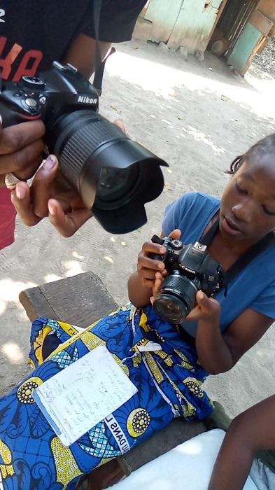 Atelier de photographie à Côte Matève - Congo